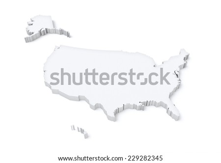 american map - stock photo