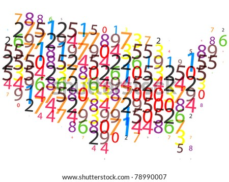 american map made of digits