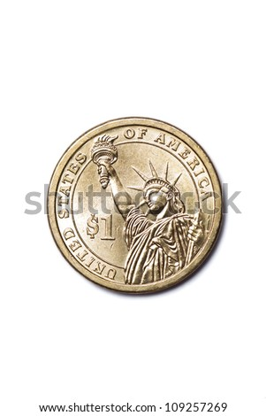 American money, one dollar - stock photo