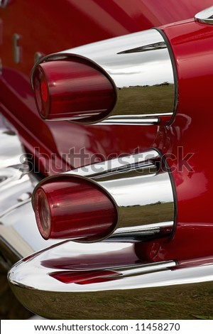 American old car from behind - stock photo