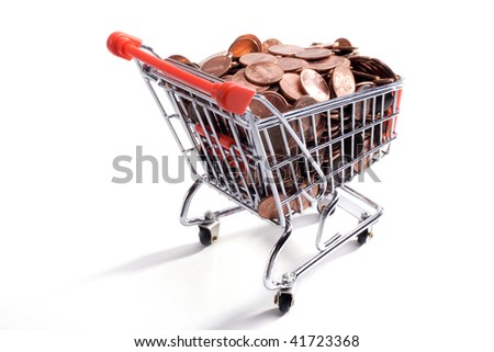 American One Cents in a shopping cart