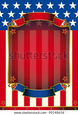 american paper. A background with a large frame for message. - stock photo