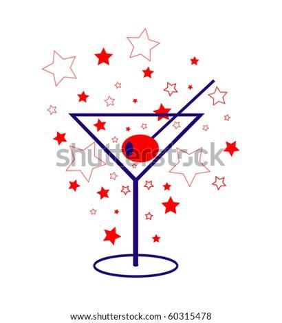 american Patriot Martini - stock photo