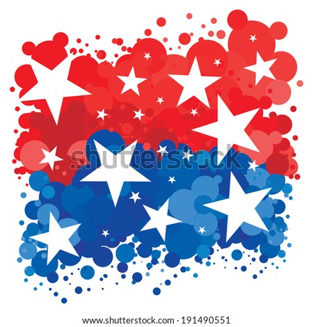 American Patriotic Background - stock photo