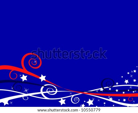 American Patriotic Background for Fourth of July or Memorial Day - stock photo