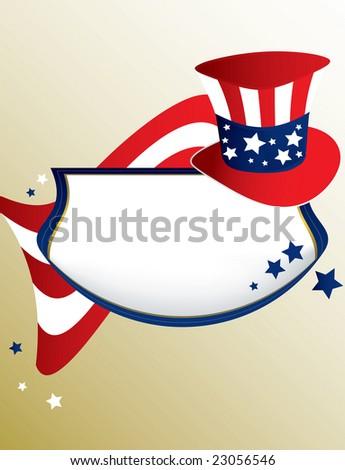 American patriotic banner - jpg version - stock photo