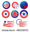 American patriotic symbols set for design and decorate or logo template. Vector version is also available  - stock photo