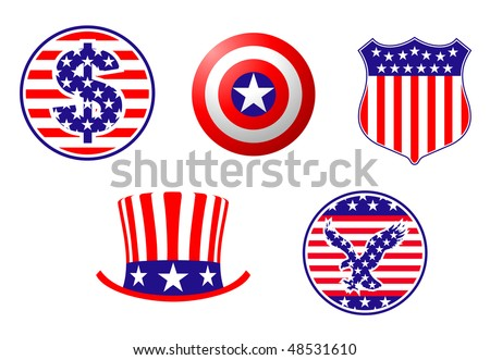 American Symbols Of Patriotism Patriotic Hat On Flag ...