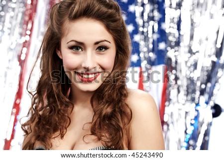 American pin-up girl - stock photo