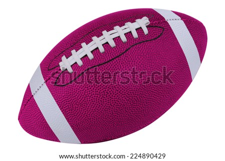 American Pink football isolated over a white background with a clipping path - stock photo