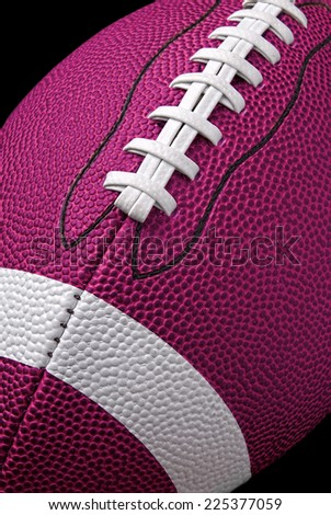 American Pink football up close detail showing laces and stitching - stock photo