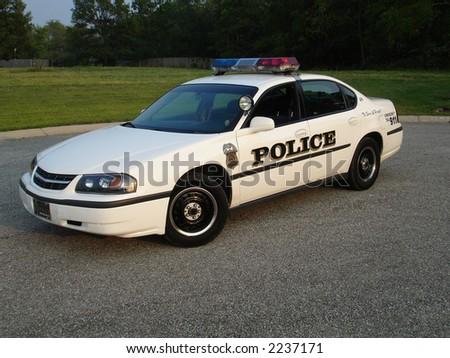 American Police car - stock photo