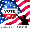 American presidential elections banner prompting you to vote - stock photo