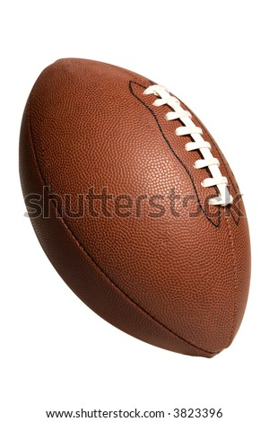 American Pro Football isolated on white background - stock photo