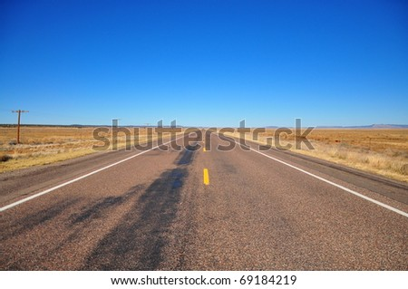 American Road Route 66 - stock photo