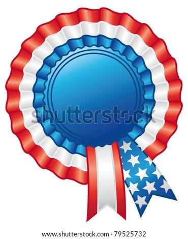 American rosette ribbon. Emblem decoration. - stock photo
