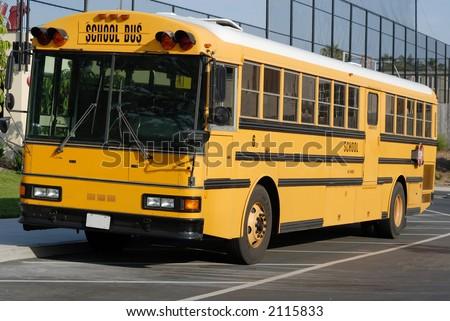 American schoolbus - stock photo