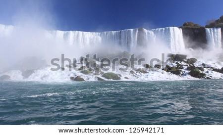 American side of Niagara Falls - stock photo