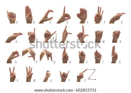 Sign Language Alphabet Stock Images RoyaltyFree Images  Vectors
