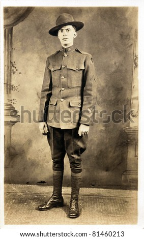 American Soldier from WWI - stock photo