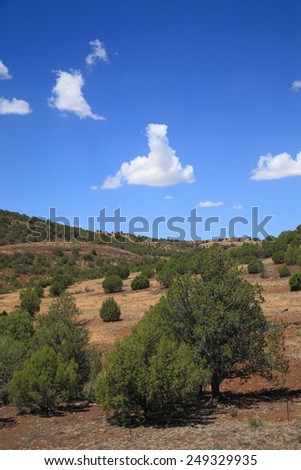 American Southwest - Arizona Landscape Prairie and Hills - stock photo