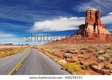 American southwest landscape, Hite, Utah - stock photo