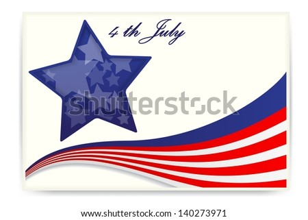 American star flag , Business cards - stock photo