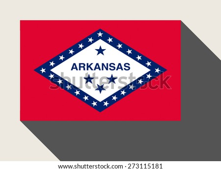 American State of Arkansas flag in flat web design style.