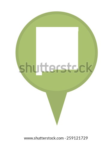 American state of New Mexico marker pin isolated on a white background. - stock photo