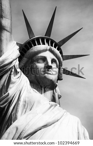 american statue of liberty-manhattan-new york city - stock photo