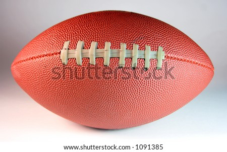 American style football or pigskin. - stock photo
