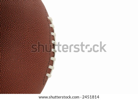 American Style Football, Side view isolated on White Background