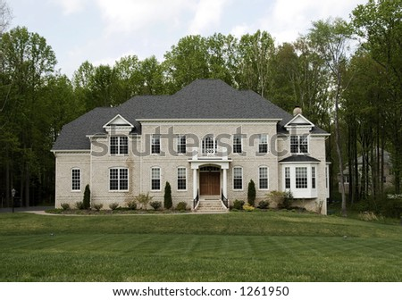 american suburban home in virginia - stock photo