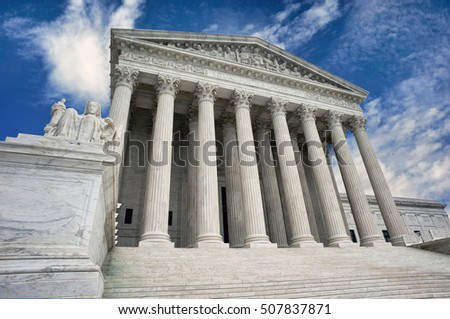 American Supreme Court building in Washington DC.