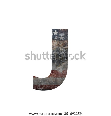 American vintage flag in letter j - stock photo