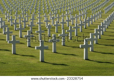 American war cemetery, placed in Florence - stock photo