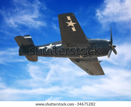 American World War II fighter plane or airplane