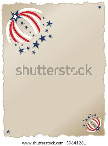 Americana Ribbons RASTER version - stock photo