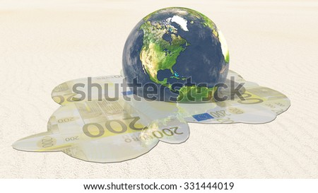 Americas Euro Melt - stock photo