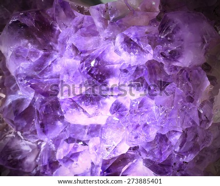 Amethyst , a violet variety of quartz - stock photo