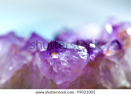 Amethyst closeup - stock photo