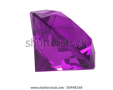 Amethyst gemstone isolated on white background
