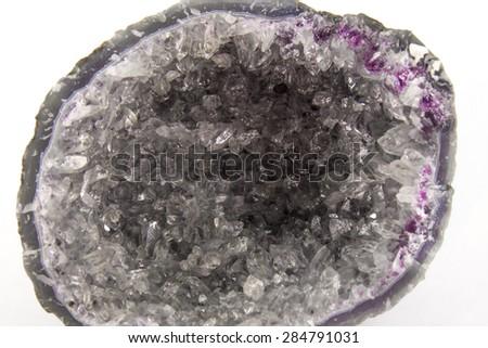 Amethyst geode - stock photo