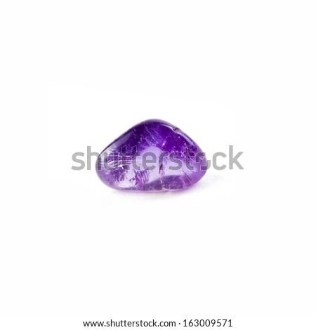 Amethyst isolated on white background  - stock photo