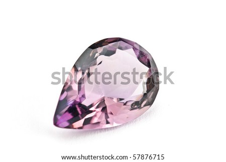 Amethyst Jewel isolated against a white background - stock photo