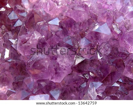 Amethyst natural structure - stock photo