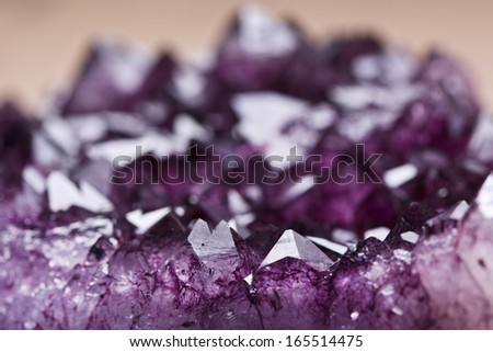 amethyst quartz - stock photo