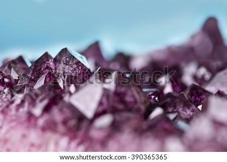 amethyst quartz - stock photo