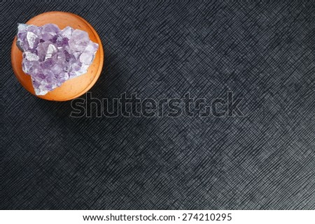 Amethyst represent the raw stone gem and jewelry concept related idea. - stock photo