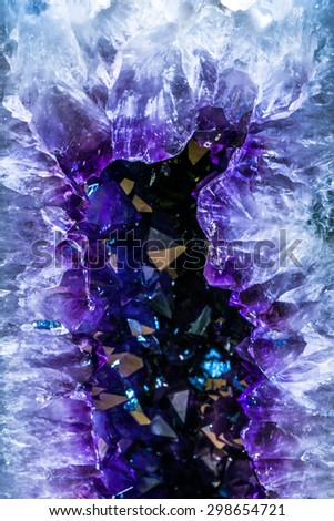 Amethyst semi-precious stone - stock photo
